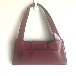 Guess Bags - Guess Wine And Burnished Brass Structured Bag